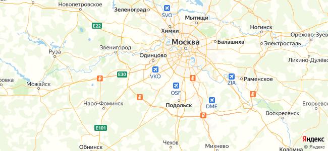 Квартиры Москвы - объекты на карте
