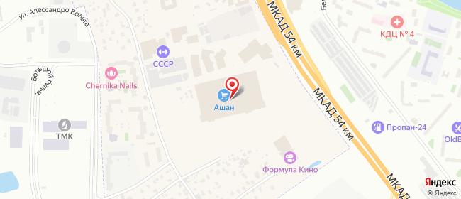 Карта расположения пункта доставки Ростелеком в городе Марфино