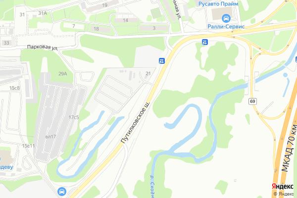 Ремонт телевизоров Путилковское шоссе на яндекс карте