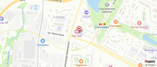 Карта расположения пункта доставки Москва Производственная в городе Москва