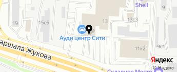 Ауди Центр Сити на карте Москвы