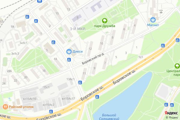 Ремонт телевизоров Боровский проезд на яндекс карте