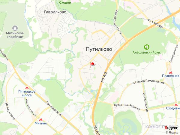 Карта населенный пункт Путилково