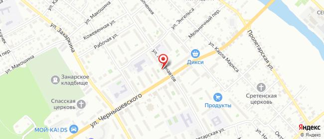 Карта расположения пункта доставки Серпухов Космонавтов в городе Серпухов