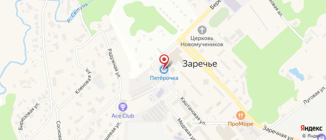 Карта расположения пункта доставки Халва в городе Заречье