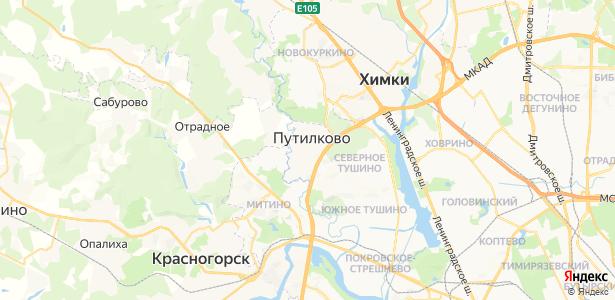 Путилково на карте
