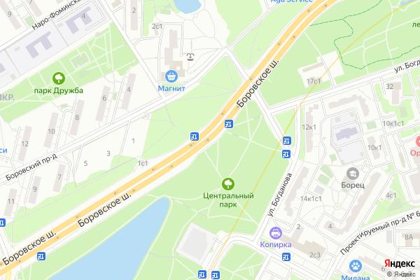 Ремонт телевизоров Боровское шоссе на яндекс карте