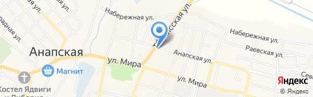 Храм Вознесения Господня на карте Анапы