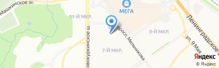 Продуктовый магазин на Молодёжной на карте Химок