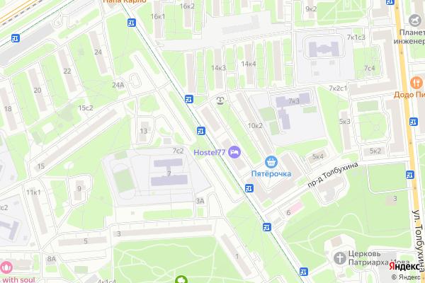 Ремонт телевизоров Улица Говорова на яндекс карте