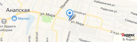 Горный источник на карте Анапы