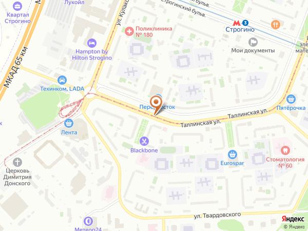 Остановка «Универсам», Таллинская улица (858) (Москва)
