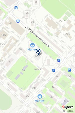 ДК ЦЕНТРАЛЬНАЯ КЛИНИЧЕСКАЯ БОЛЬНИЦА на карте Москвы