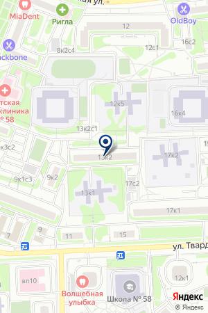 ФИНАНСОВАЯ КОМПАНИЯ ИНВЕСТ ИНДУСТРИЯ на карте Москвы