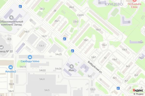 Ремонт телевизоров Улица Бобруйская на яндекс карте