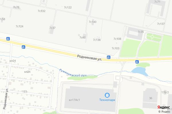 Ремонт телевизоров Улица Родниковая на яндекс карте