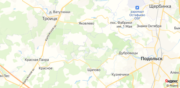 Поливаново на карте