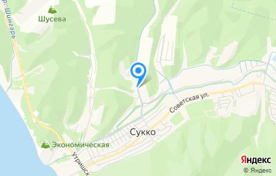 Местоположение на карте пункта техосмотра по адресу Краснодарский край, Анапский р-н, с Сукко, ул Киблерова, д 13