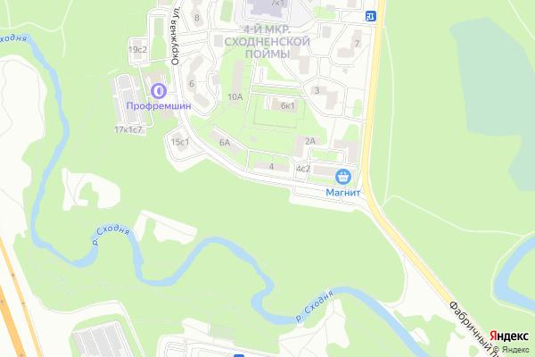 Ремонт телевизоров Улица Окружная на яндекс карте