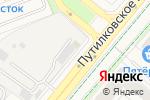 Схема проезда до компании Продуктовый магазин в Путилково