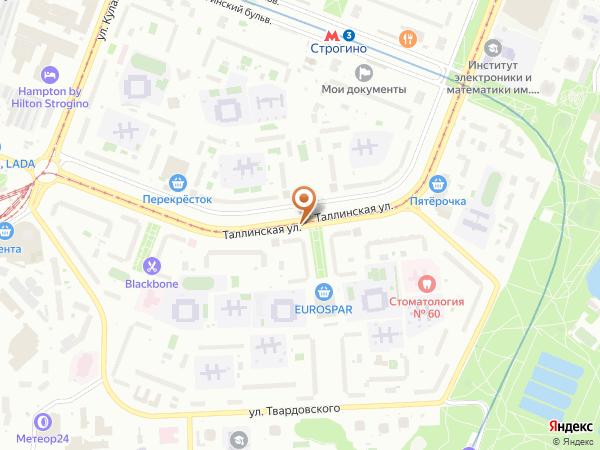 Остановка «Школа им. Марины Цветаевой», Таллинская улица (848) (Москва)