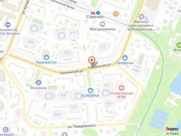 Остановка «Школа им. Марины Цветаевой», Таллинская улица (857) (Москва)