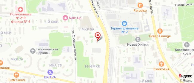 Карта расположения пункта доставки Москва Соловьиная Роща в городе Москва