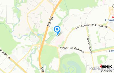 Местоположение на карте пункта техосмотра по адресу г Москва, ул Нерис Саломеи, д 4 к 3