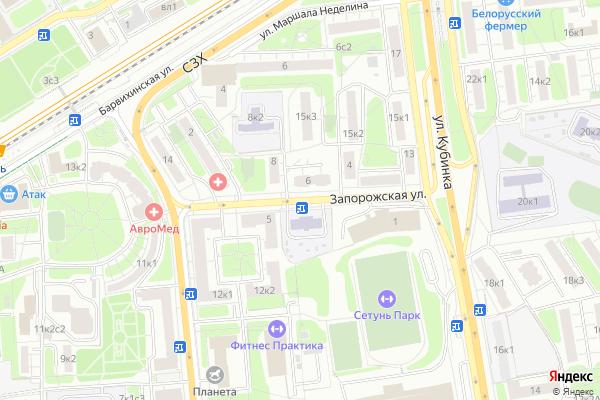 Ремонт телевизоров Улица Запорожская на яндекс карте