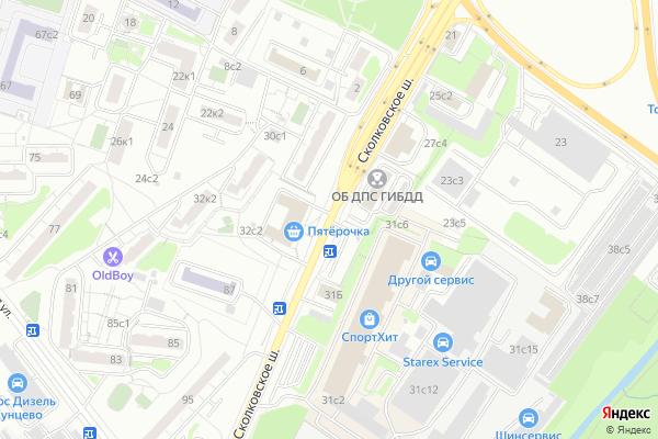 Ремонт телевизоров Сколковское шоссе на яндекс карте