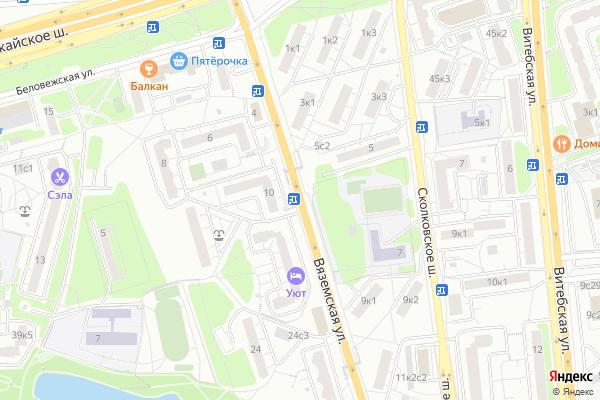 Ремонт телевизоров Улица Вяземская на яндекс карте