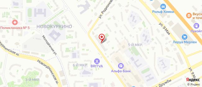 Карта расположения пункта доставки Химки Мельникова в городе Химки