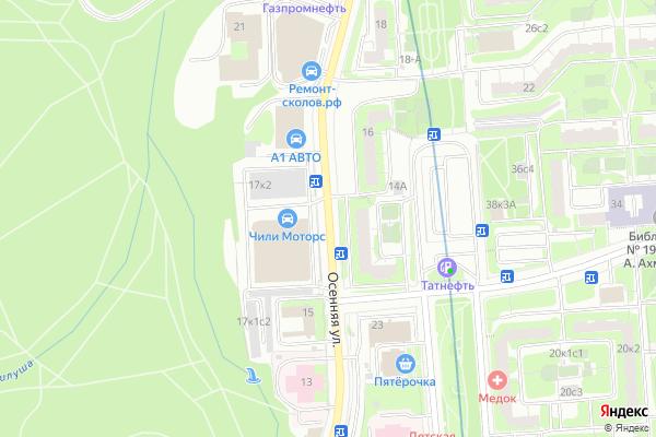 Ремонт телевизоров Улица Осенняя на яндекс карте