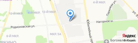 Атриком-строй на карте Химок