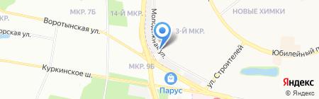 Киоск по продаже кондитерских изделий на карте Химок