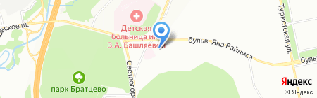 Тройка на карте Москвы