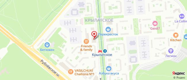 Карта расположения пункта доставки Москва Осенний в городе Москва