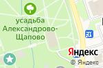 Схема проезда до компании Почтовое отделение №108825 в Щапово