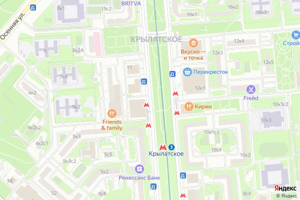 Ремонт телевизоров Осенний бульвар на яндекс карте