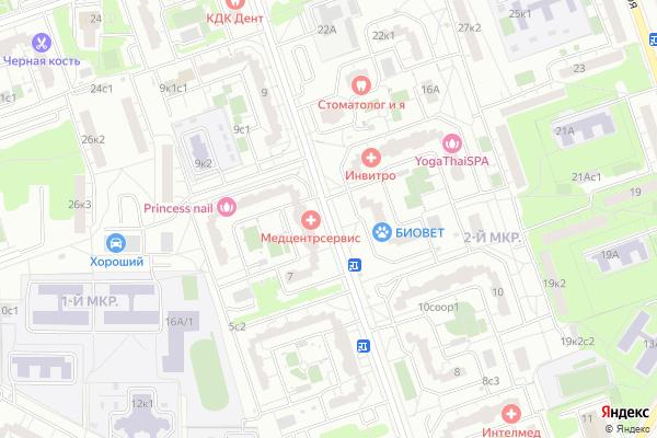 Ремонт телевизоров Улица Главмосстроя на яндекс карте