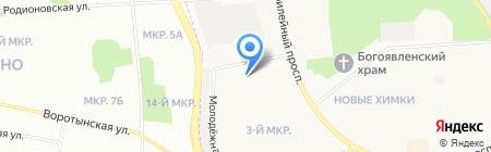 Русская баня на ул. Машинцева на карте Химок