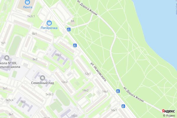 Ремонт телевизоров Улица Исаковского на яндекс карте