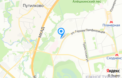 Местоположение на карте пункта техосмотра по адресу г Москва, ул Героев Панфиловцев, д 24