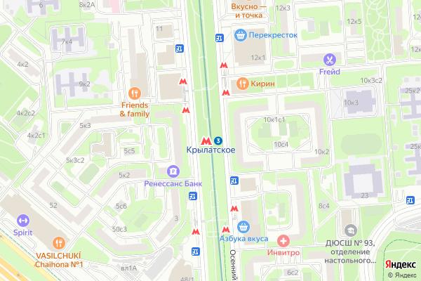 Ремонт телевизоров Метро Крылатское на яндекс карте