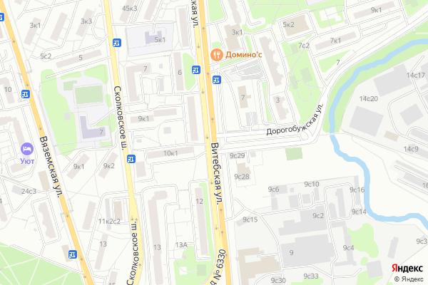 Ремонт телевизоров Улица Витебская на яндекс карте