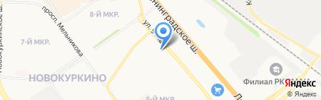 Айсберри на карте Химок