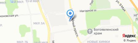 Куркино на карте Химок