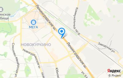 Местоположение на карте пункта техосмотра по адресу Московская обл, г Химки, ш Ленинградское, влд 21