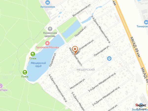 Остановка «Мещерский пруд», Мещерский проспект (1008867) (Москва)