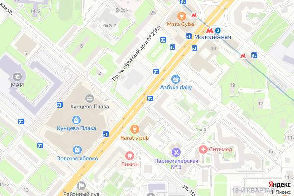 Ремонт телевизоров Улица Ярцевская на яндекс карте